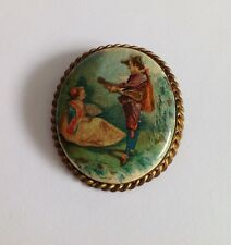 Beautiful Vintage Brooch With Trombone Clasp