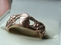 Clogau Welsh 9ct Rose & Yellow Gold Tree Of Life Ring c.2000 -  size  Q