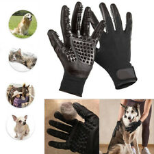 Pair Pet Grooming Gloves Hair Removal Brush Dog Cat Fur Massage Deshedding Mitts