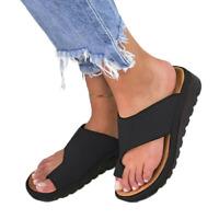 Women Comfy Platform Sandal Shoes - Bunion Corrector PU Leather Cosy