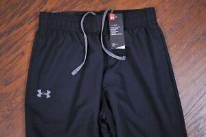 NWT Under Armour Vital Warm-Up Pants Black Men's Medium M