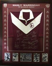 Blazed In Glory - Manly Warringah Sea Eagles Legends NRL Signed & Framed Jersey