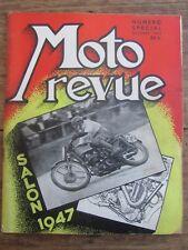 ANCIENNE REVUE MOTO REVUE SALON 1947