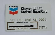 Chevron USA Inc Gas Travel Credit Card 1991 Expired Unsigned Vintage
