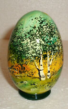 BEAUTIFUL EGG with SURPRISE~HANDPAINTED ALL AROUND~MADE IN RUSSIA~NEW
