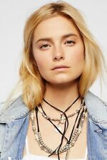 Free People Magic Waters Faux Pearl Leather Necklace-$68 MSRP