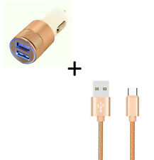 Pack Voiture pour MOTOROLA moto g7 PLAY (Cable Chargeur Metal Type C + Double Ad