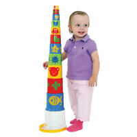 Gowi Toys Educational Giant Pyramid Stacker, Stacking Building Blocks