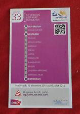 Fahrplan SNCF TER Aquitaine Le Verdon - Bordeaux Linie 33 - nicht Deutsche Bahn