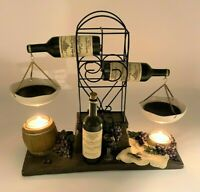 Yankee Candle Mini Wine Bottle Rack w/ Merlot Double Hanging Tart Warmer Burner