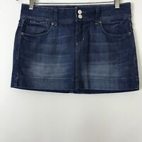 American Eagle Outfitters Medium Wash Denim Blue Mini Jean Skirt Womens Size 6