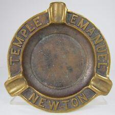 Old Bronze Temple Emanuel Newton Advertising Ashtray Richard Fine & Sons Boston