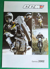CCM MOTORCYCLES MOTO 2002  CATALOGO DEPLIANT BROCHURE RECLAME PUBBLICITA