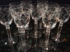 9 Vintage Elegant Cut Crystal Goblets FOSTORIA HOLLY CORDIAL GLASSES