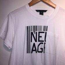Marc Jacobs Designer Women's White T-Shirt Size M