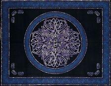 Handmade Cotton Celtic Circle Wheel Of Life Tapestry Spread Twin Purple Black