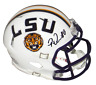 PATRICK QUEEN AUTOGRAPHED SIGNED LSU TIGERS WHITE SPEED MINI HELMET BECKETT
