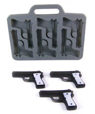 Gun Shape 6 Cavity Black Silicone Ice Cube Mold -Ice, Chocolate, Fondant, Crafts