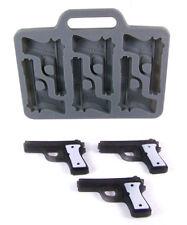 Gun Shape 6 Cavity Black Silicone Ice Cube Mold -Ice, Chocolate, Fondant, Crafts