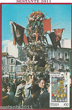 ITALIA MAXIMUM MAXI CARD CATANIA LE CANDELORE FOLKLORE 1986 ANNULLO TORINO B435