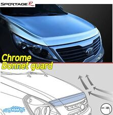 Bonnet Hood Guard Chrome Garnish Deflector 3Pcs K-885 for Kia 2011~2016 Sportage
