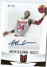 2012-13 Panini Hakeem Olajuwon Auto #d /35 Momentum Houston Rockets