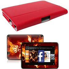 Genuine Leather Case Cover for Amazon Kindle Fire HD 7 inch + Skin Accessory R01