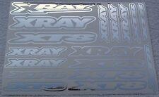 XRAY XT8 chrome autocollant feuilles d'autocollants rxr0001c
