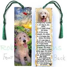 Golden Doodle Large Bookmark Dog Rules Property Law-Labradoodle Card figurine