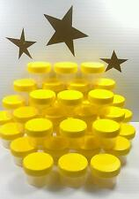9 small 1tbl 1/2oz Plastic Jars YELLOW Screw Caps Container Beads Lip Balm #3803