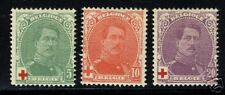 Belgium 1914  Scott #B25-27   MLH