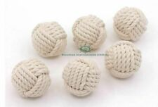 Nautical Decorative Rope Ball/Set of 6 Cotton Rope/Nautical Bowl Filler