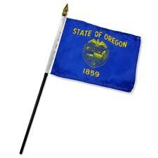 "Oregon State Flag 4""x6"" Desk Table Stick"