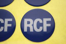 "RCF Logo Plastic Sticker 60mm (2-3/8"") Diameter"