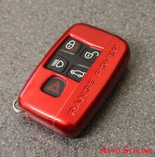Roja clave Funda Protectora Para Range Rover Smart Remote Llavero 5 Botones Hull Vogue 45fr