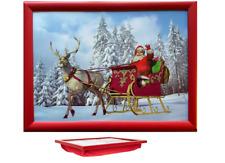 Xmas Santa Lap Tray Christmas Bean Bag Base Breakfast Dinner Laptop Tv Tray Gift