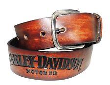 "Harley-Davidson Gürtel ""HARLEY-DAVIDSON"" Ledergürtel *AH225-28* Gr. 28 Inch"