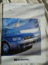 Subaru Outback 4WD 2.4 & H6-3.0 range brochure Nov 2000 Swiss market multi text