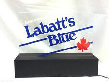 Labatt's Blue beer sign lighted bar topper shelf display light imported old Zb91
