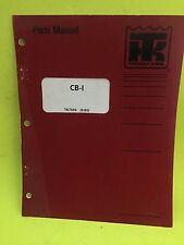 Thermo King TK7569 Parts Manual CB-I