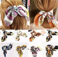 Zopfgummi Haargummi Haarschleife SATIN Haarband EDEL - 13 verschiedene Dessins