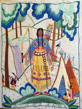 Georgiana Brown Harbes Vintage1933 Minnihaha -  Completed Art Crewel Embroidery