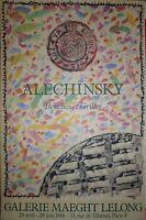 Alechinsky Pierre Affiche Galerie Quadri abstraction cobra art abstrait Belgique