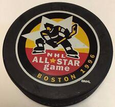 1996 NHL ALL-Star Game Souvenir Hockey Puck Boston Bruins