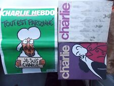 CHARLIE HEBDO N°1178 du 14/01/2015 + 2 revues mensuelles anciennes VOIR SCAN