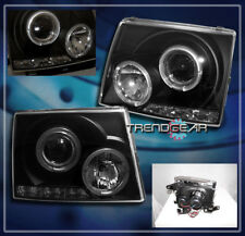 1997-2000 TOYOTA TACOMA HALO LED PROJECTOR HEADLIGHTS LAMPS JDM BLACK 1998 1999