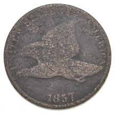 1857 Flying Eagle Cent - Very Tough - Issued for only 3 Years *650