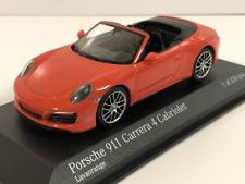 Minichamps 410067231 Porsche 911 Carrera 4 Cabriolet 2016 Orange 1:43 Scale