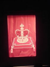 slide London England King Queen Crown Jewels Museum Gold display tourist cross a