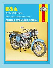 MAN121 Haynes Manual BSA A7 & A10 Twins StarTwin  Shooting Star  Road Rocket etc